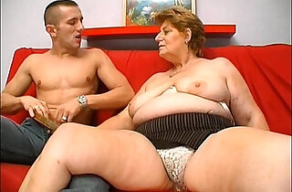 Mature fat granny hungry skin head young man sex - 4:01