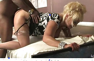 Black big cock stuffed into white MILF pussy - 5:43