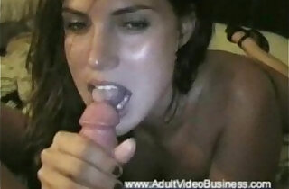 Blowjob With Facial Brunette - 10:21