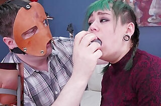 Hot punk girl get punish with bubble butt and gets hard deep anal punishment - 6:05
