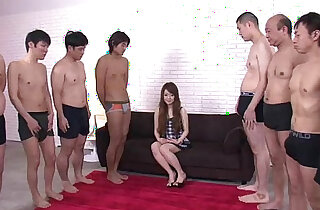 Big thick cocks attack Ria pretty little mouth leaving her soaking wet - 5:35