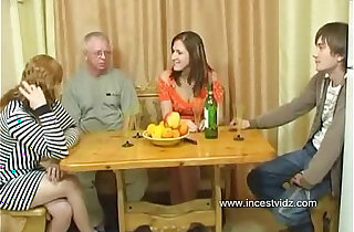 FamilySex Usual family dinner turns into a party - 21:28