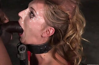 Orgasming beauty has her face messed up in saliva while deepthroating - 7:04