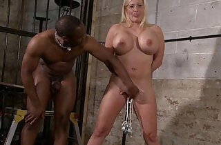 Melanie Moons busty bdsm and german slave girl interracial domination by crue - 6:28