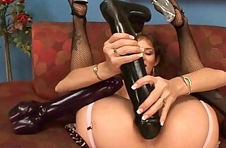 Busty babe Felony fills her pussy with a monster dildo - 7:16