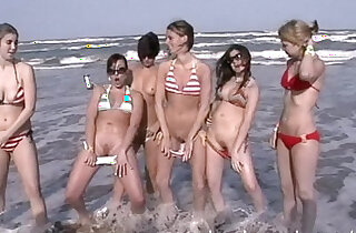 senior trip girls on the beach skinny dipping - 15:30