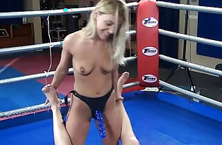 Nikky Thorne vs. Peter nude erotic mixed wrestling humiliation strapon - 24:03