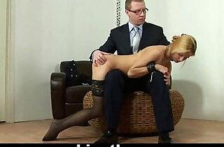 Hard spanking for hot blonde lady - 6:13