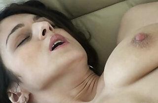 Lingerie wearig black raven strips and pleasures her cunt - 8:45