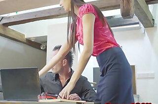 Skinny czech secretary shagging her boss - 10:54