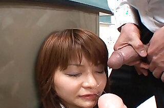 BUKKAKE Japanese blowjob bukkake - 9:07