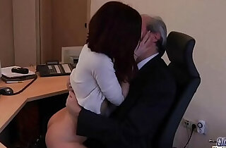 Old Young Porn My Sister Fucked Her Boss in the office and swallowed cum - 8:32