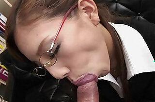 Frail Japanese slut munches on a fat dick - 9:30