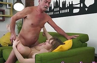 Teen spermed by old man - 7:17