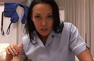 Busty nurse pov jerking patients dick - 20:31