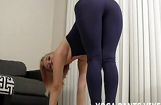 My tight black yoga pants are getting you all hard JOI - 6:25