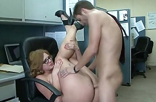 big booty white woman fucking her little dick boss for a promotion ! - 24:53
