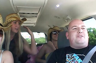 flashing and getting naked while driving on a road trip - 10:19