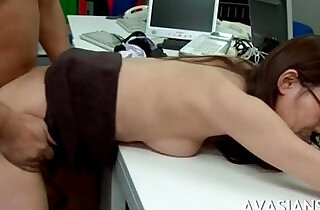 Rough anal in office for asian plays with sexy glasses - 6:53