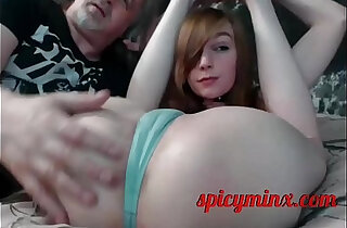 Old Dude Fondles Young Pussy with Tongue - 12:14