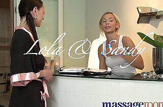 Massage Rooms Blonde russian teen masseuse given strong orgasm by lesbian client - 12:49