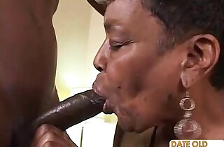 Black Granny Gets Some Young Cock - 23:26