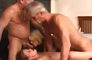 Granny wife and a young chick in a foursome - 16:12