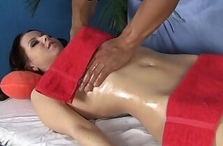Hot brunette in steamy massage and fuck - 7:52