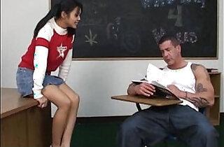 Asian schoolgirl fucks her pervert teacher - 35:19