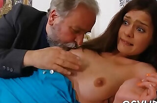 Steaming young chick fucks old boy - 6:25