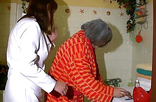 OldNanny Sexy nurse shower granny, Granny with grandpa have sex - 8:22