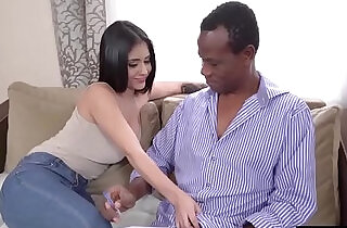 Busty latina beauty gives head n rides her old black teacher - 5:41