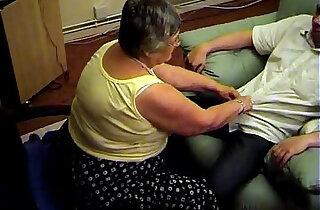 Grandma libby from gives a nice blowjob and footjob - 6:33