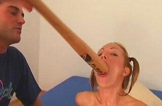 Angela Winters playing wih bat - 32:35