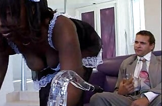Black Maid Skyy Black takes care of the master of the house - 21:23