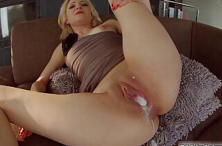 All Internal Threesome with a double creampie for blonde newbie - 14:19