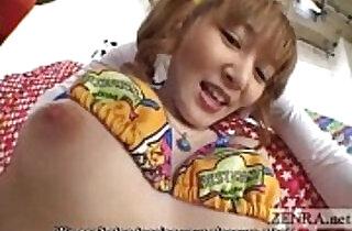 Pale Japanese AV star weird vibrator threesome Subtitled - 5:06
