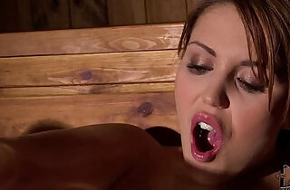 Horny Hanna Montada Fists Her Wet Pussy In The Steamy Sauna - 7:55