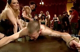 Man sex slave in middle of mistress ritual is forced to fuck in sado maso femdom - 4:46