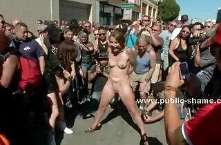 Group of sluts undressed in public sex - 4:49