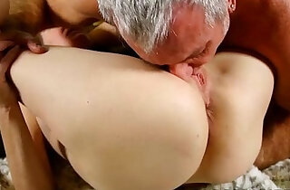 Super horny old spunker sucks on cock and fucking her soaking wet pussy - 13:09