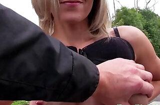 Pulled blonde flashing her big nipples - 8:58