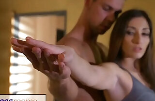 Fitness Rooms Private yoga class after workout for leggy French Milf - 12:08
